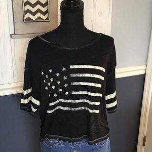 American Eagle Outfitters WMS American Flag Top